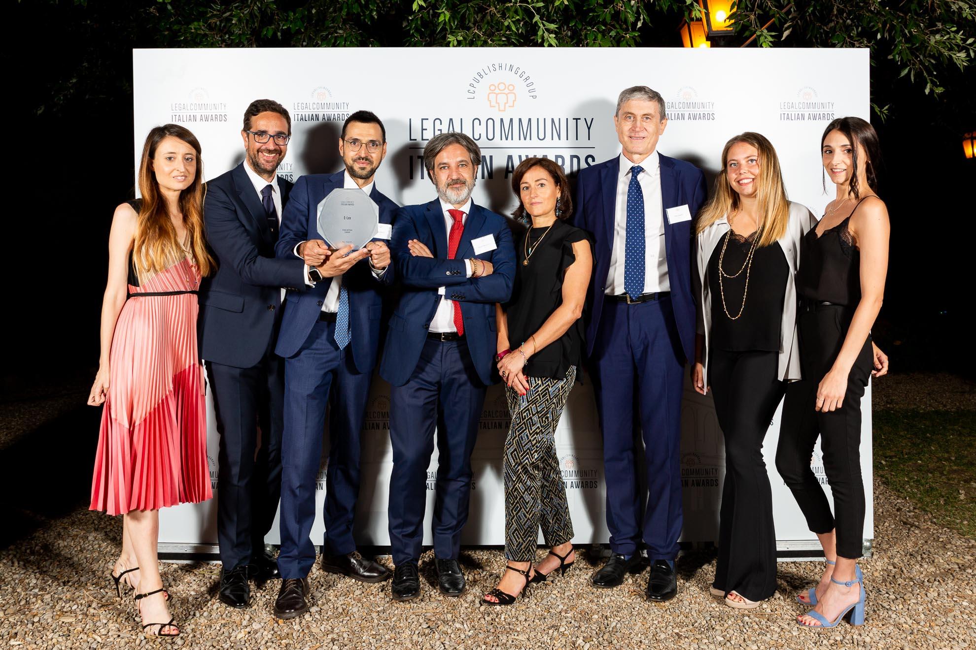 E-Lex studio legale dell'anno per le Start-up ai Legalcommunity Italian Awards